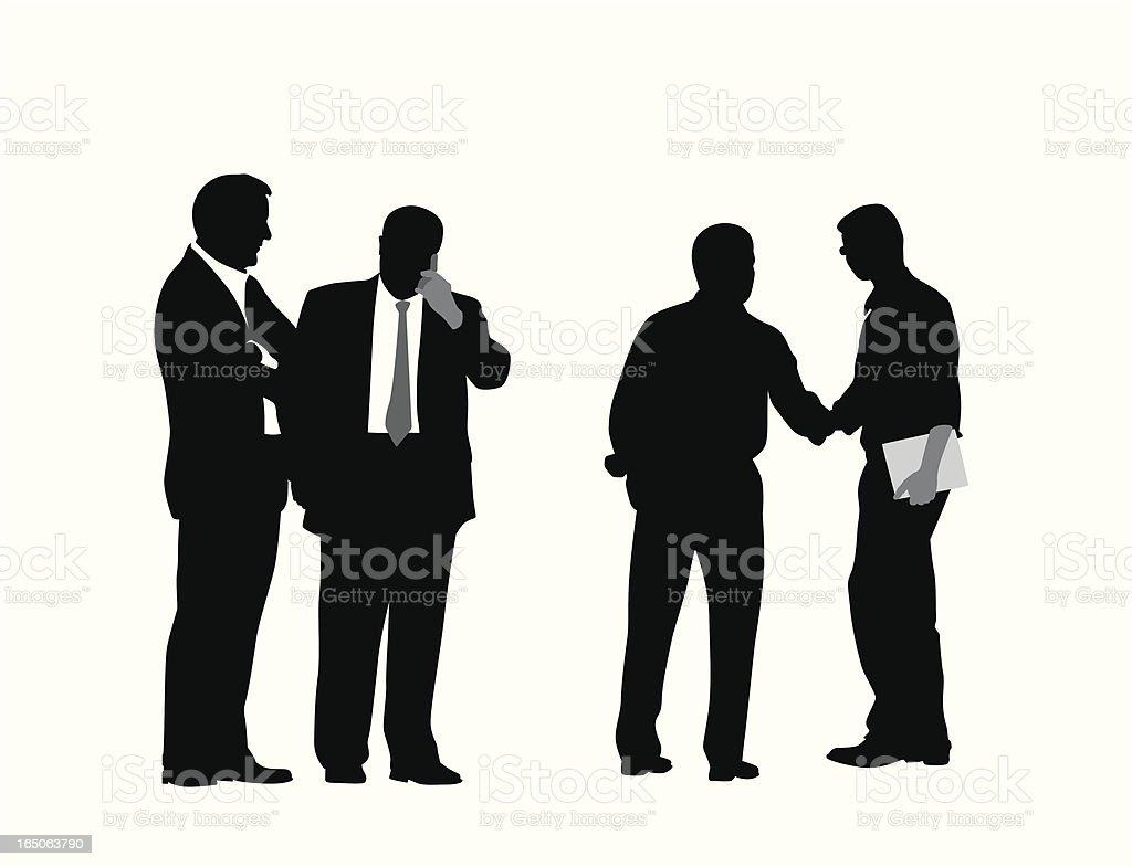 Business Associates Vector Silhouette royalty-free stock vector art