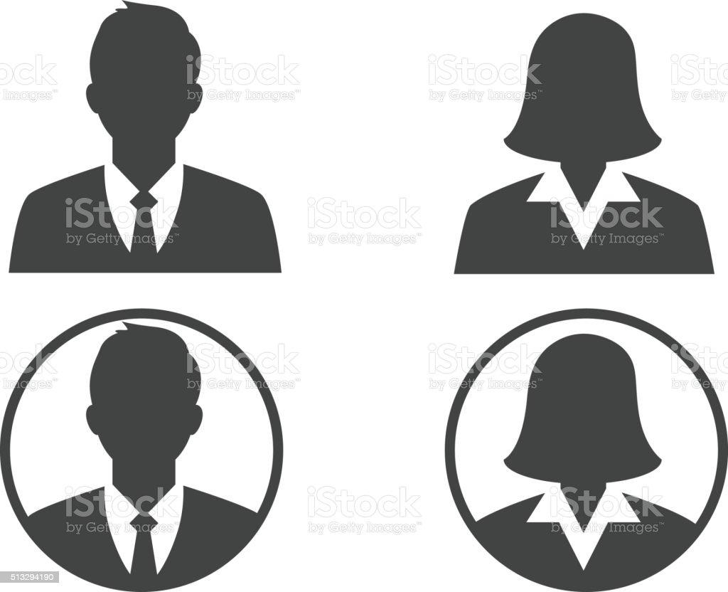 Business avatar profile vector art illustration