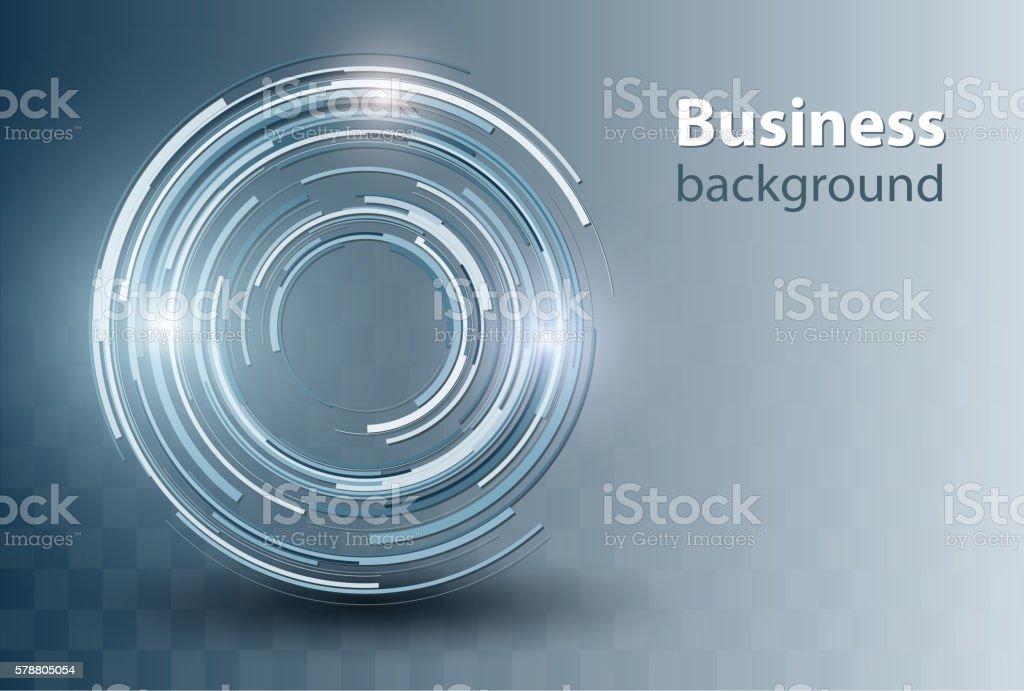 Business background blue vector art illustration