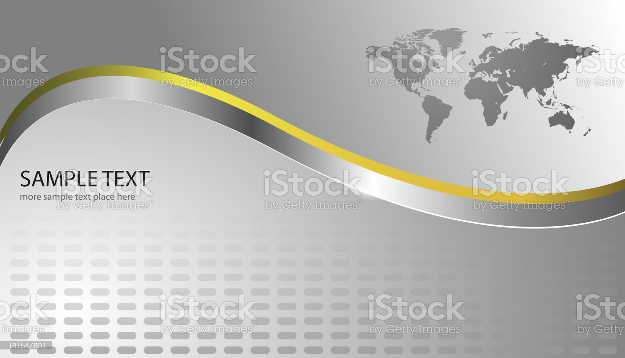 Business background with world map royalty-free stock vector art