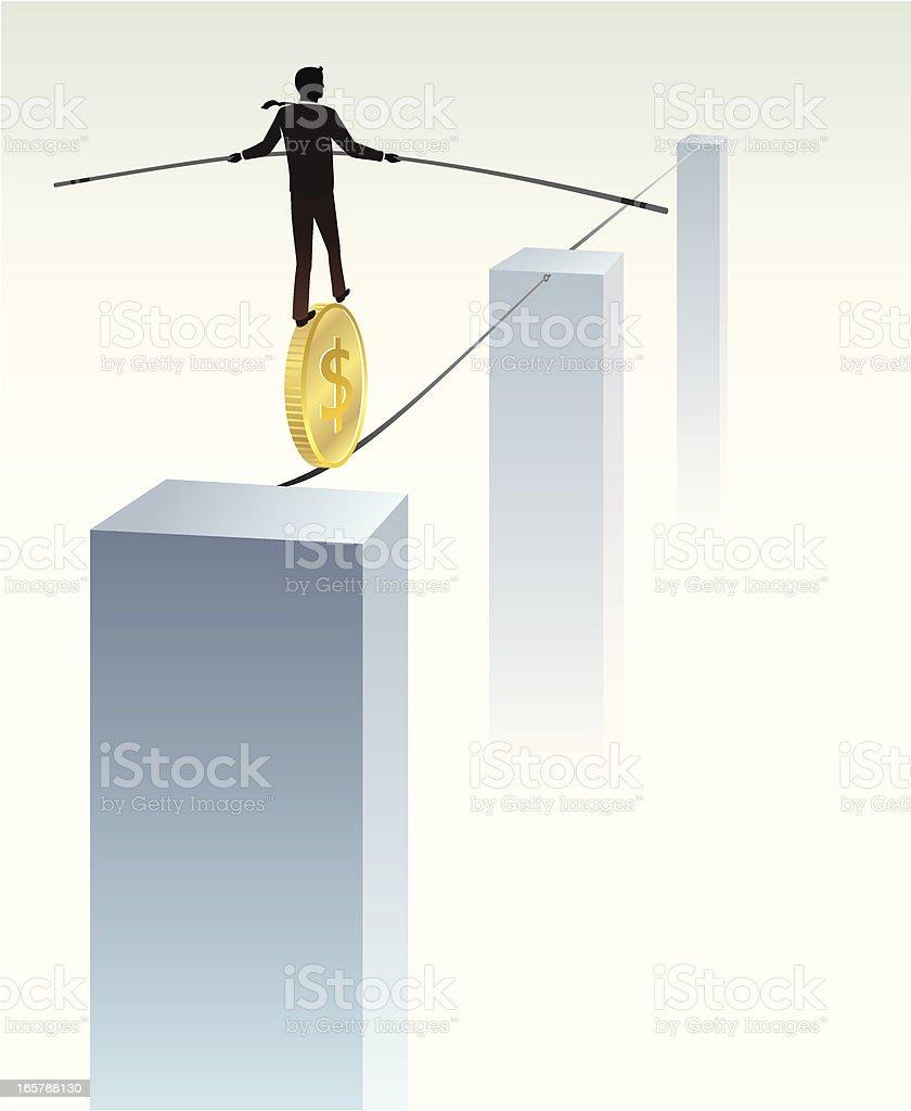 Business Balancing vector art illustration