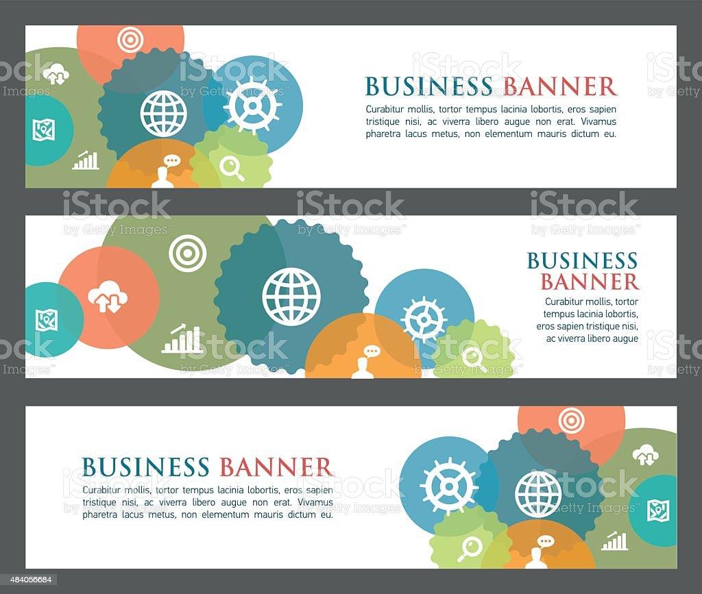 Business banners vector art illustration