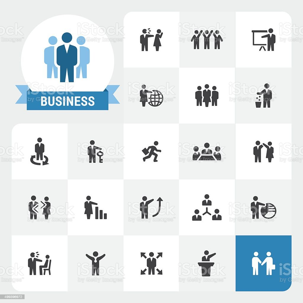 Business base vector icons and label vector art illustration