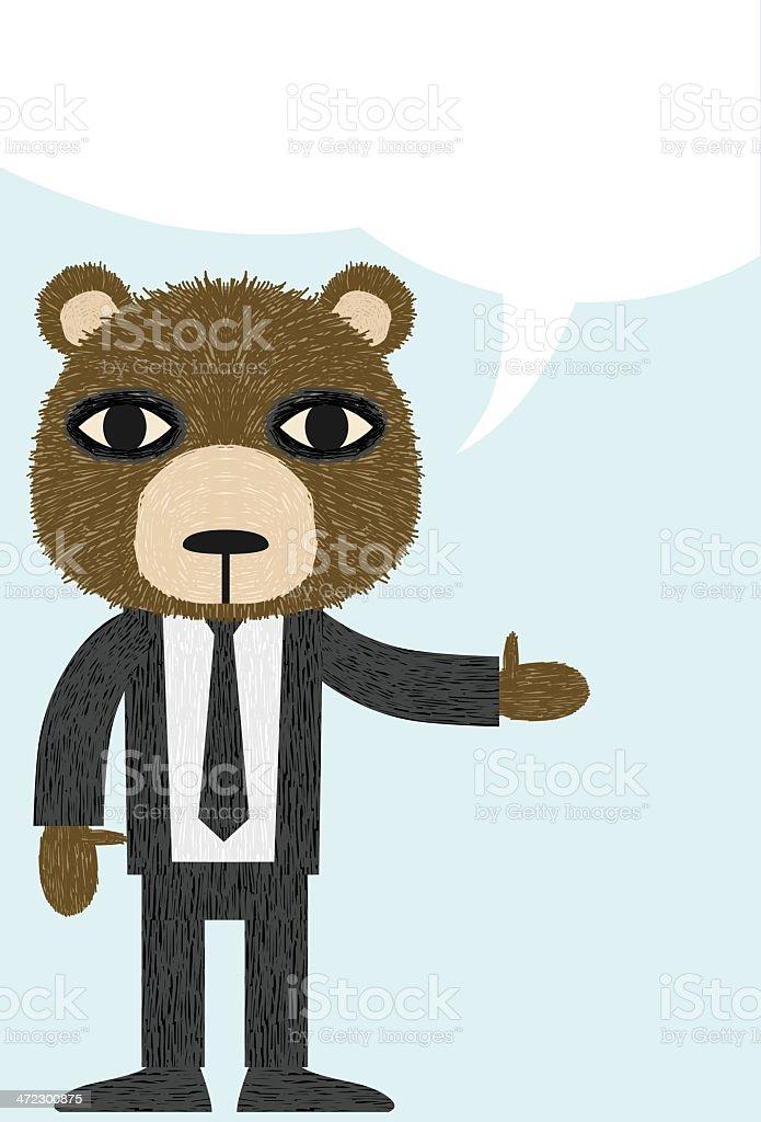 Business Bear Presentation royalty-free stock vector art