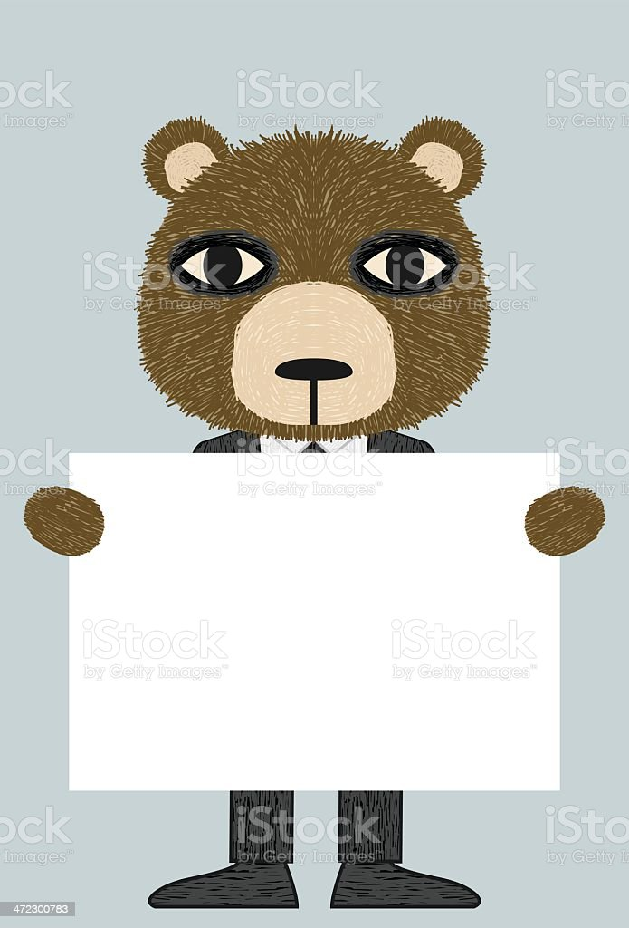 Business Bear royalty-free stock vector art