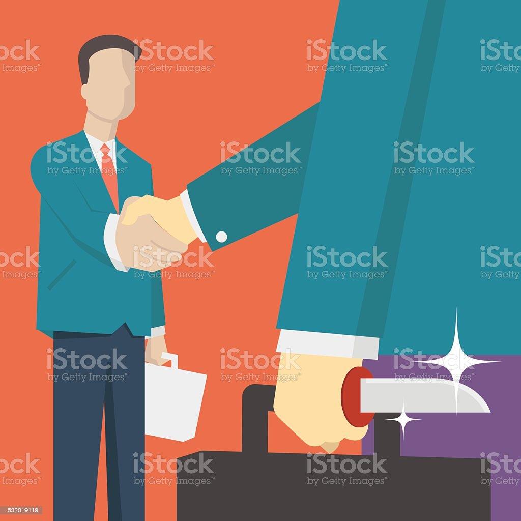 Business betrayer vector art illustration