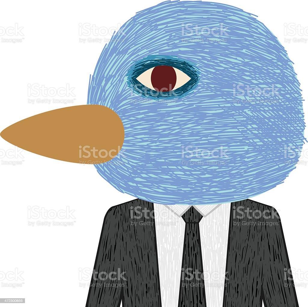 Business Bird royalty-free stock vector art