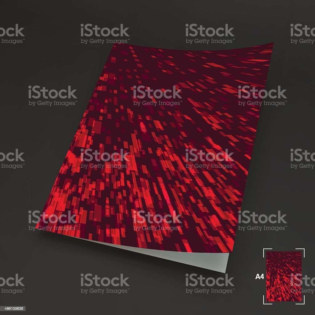 A4 Business Blank. Abstract Background. Vector Illustration. vector art illustration