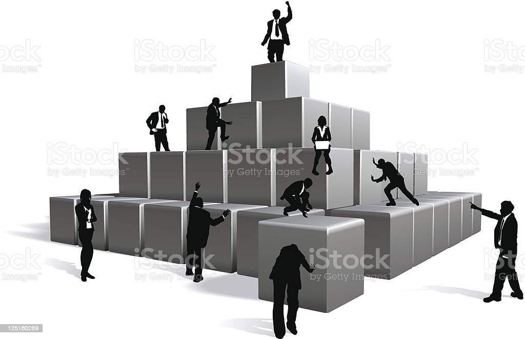 Business blocks concept royalty-free stock vector art