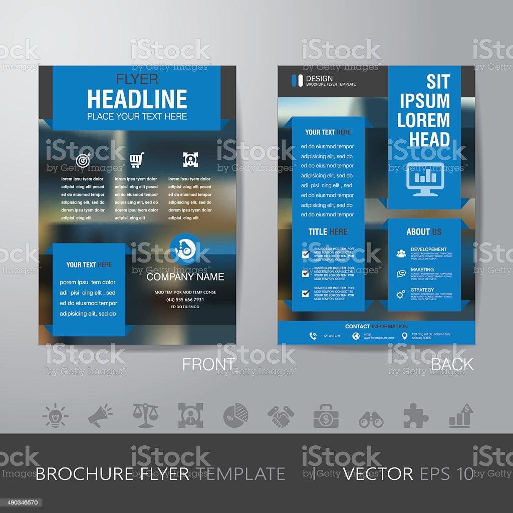 business blur background brochure flyer design layout template i 1 credit