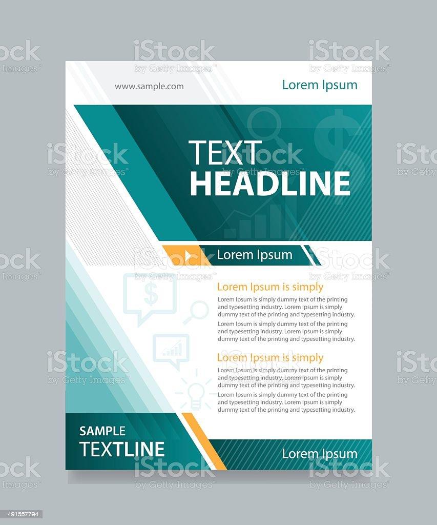 business brochure and flyer template design vector art illustration