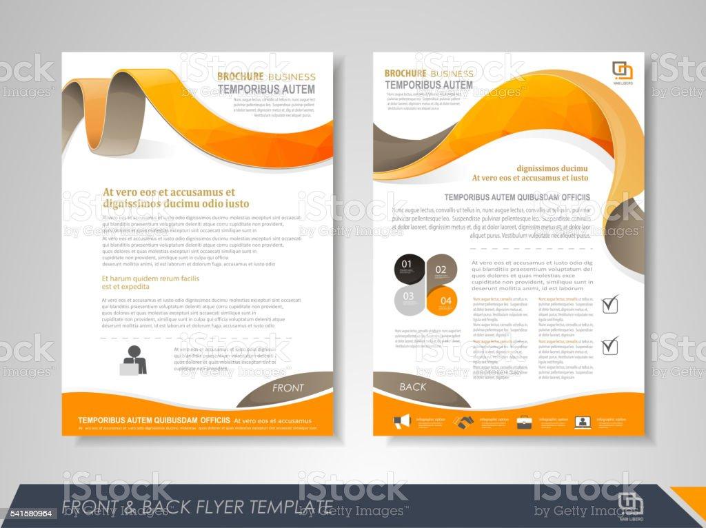 Business brochure cover design vector art illustration