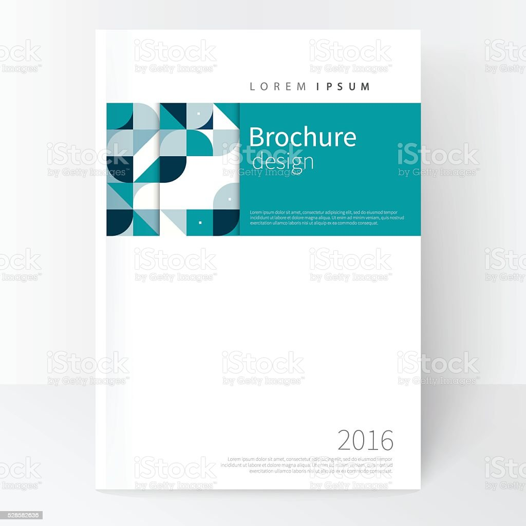 Business brochure cover template vector art illustration