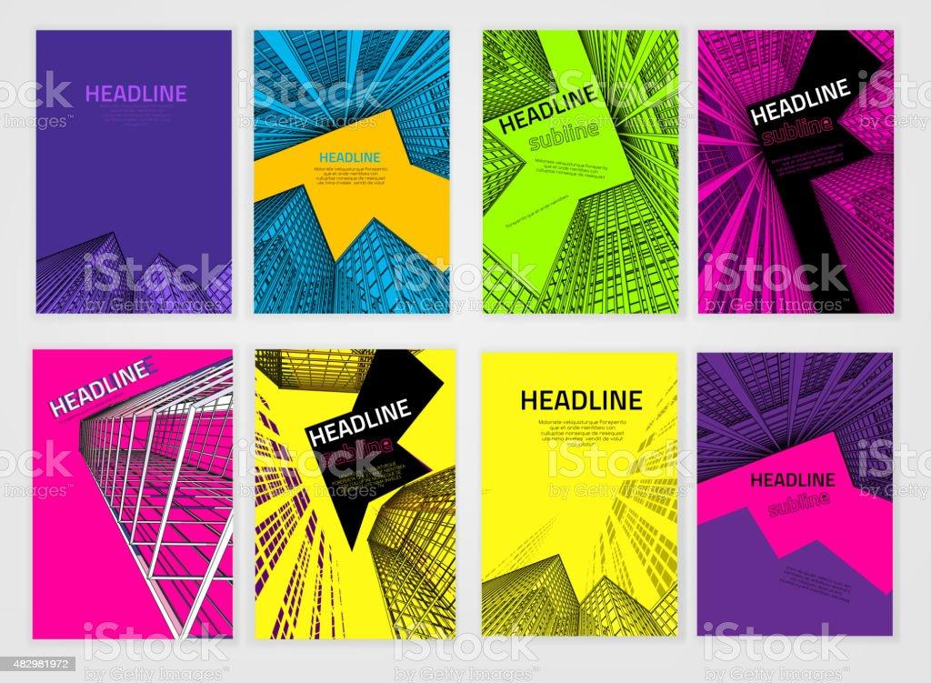 Business Brochure Cover vector art illustration