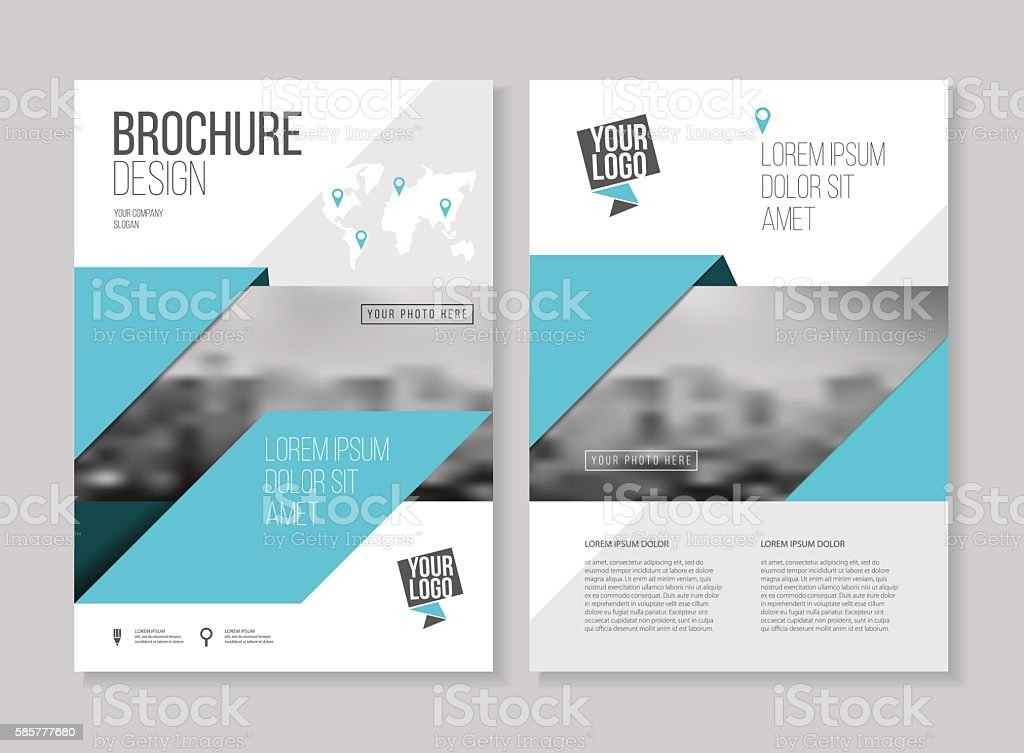 Business Brochure Design Annual Report Vector Illustration Temp