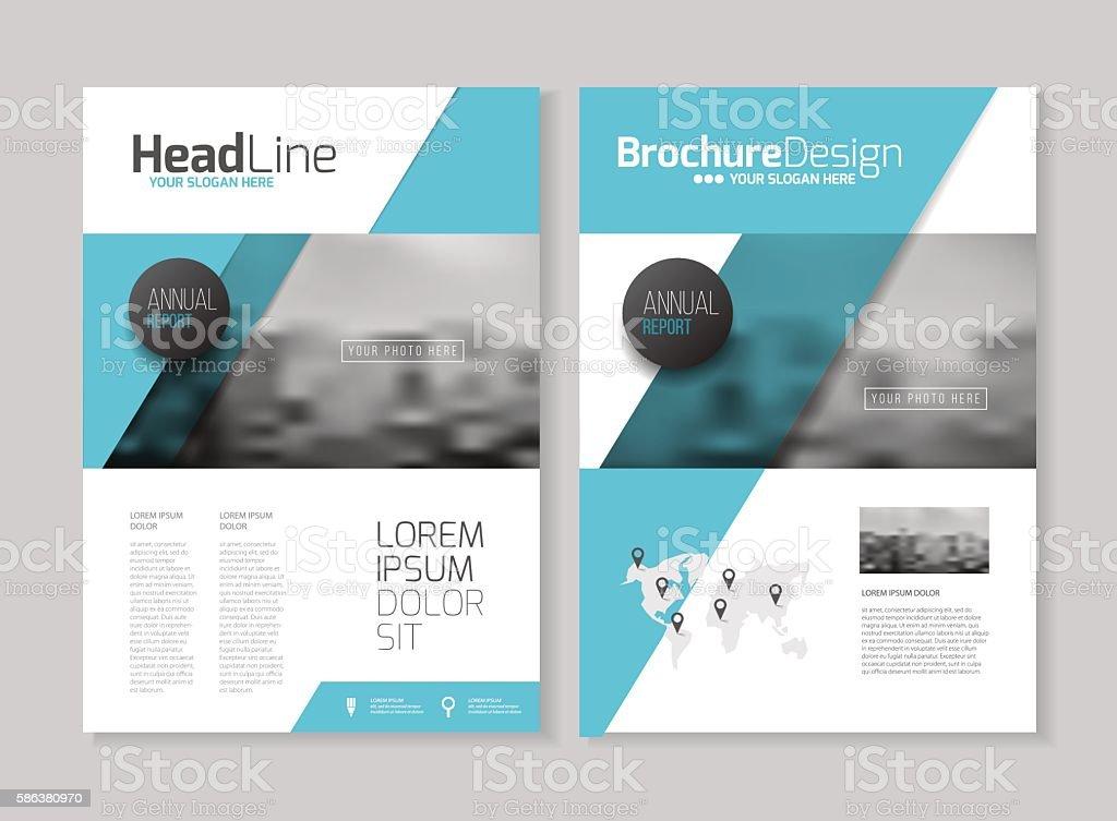 Business Brochure design. Annual report vector illustration temp vector art illustration