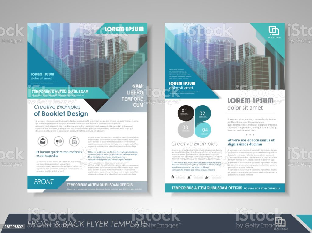 Business brochure design template royalty-free stock vector art