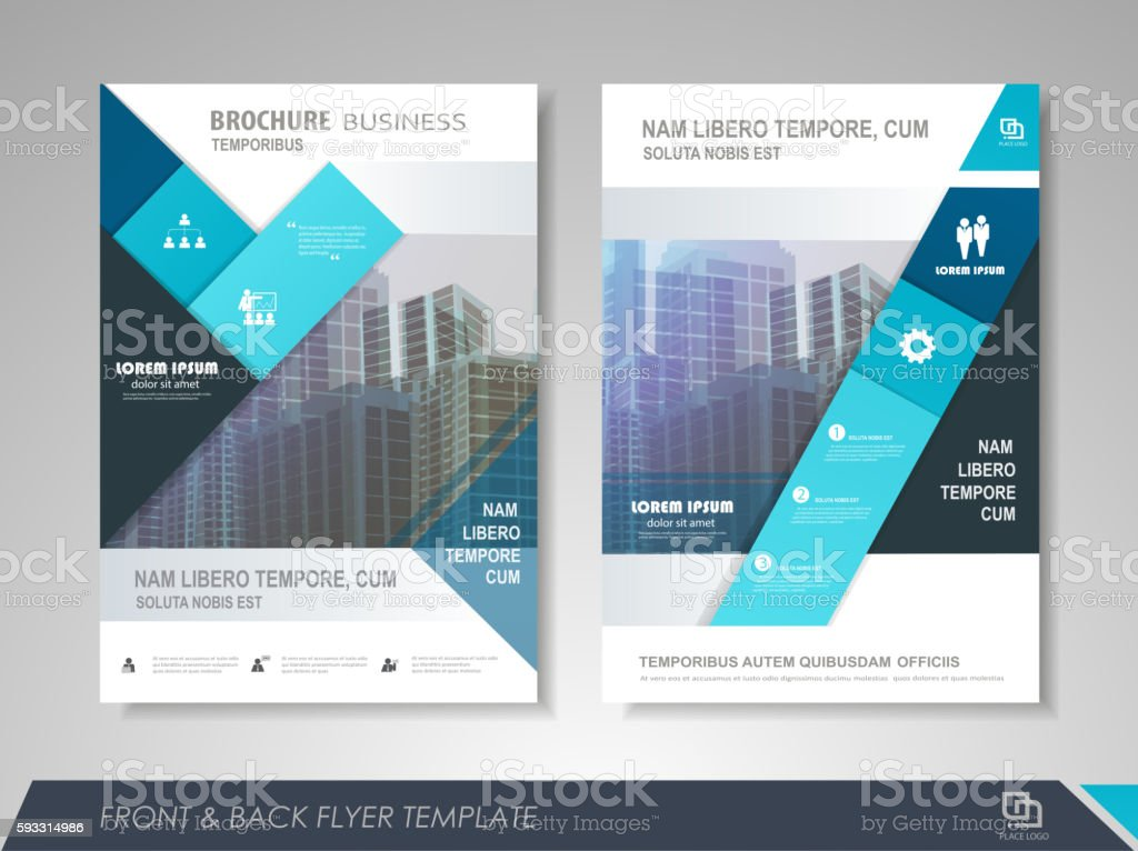 Business brochure design template vector art illustration