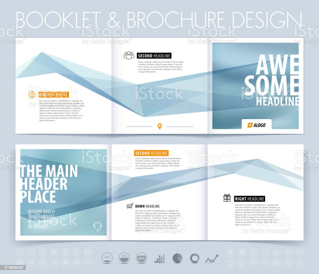 Business brochure, flyer and cover design layout template with b vector art illustration