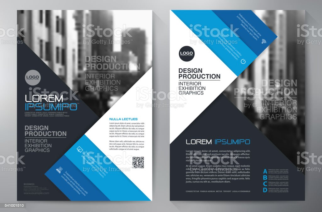 Business brochure flyer design a4 template vector art illustration