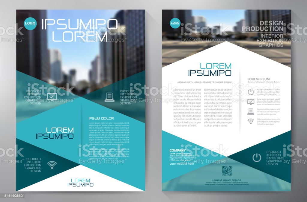Business brochure flyer design a4 template. royalty-free stock vector art
