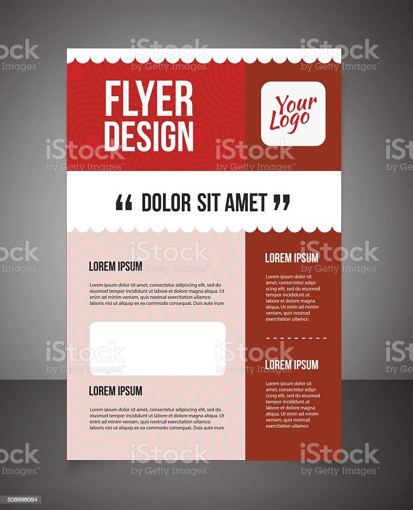 business brochure or offer flyer design template stock vector art business brochure or offer flyer design template royalty stock vector art