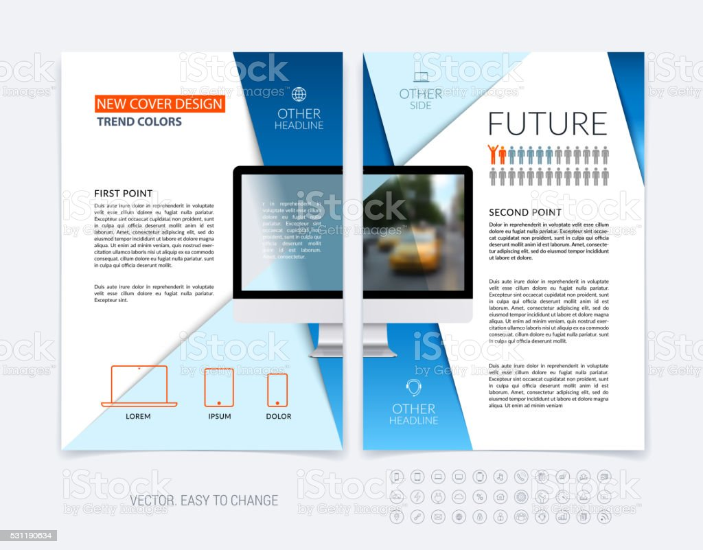 Business brochure template layout, abstract flyer design, cover vector art illustration