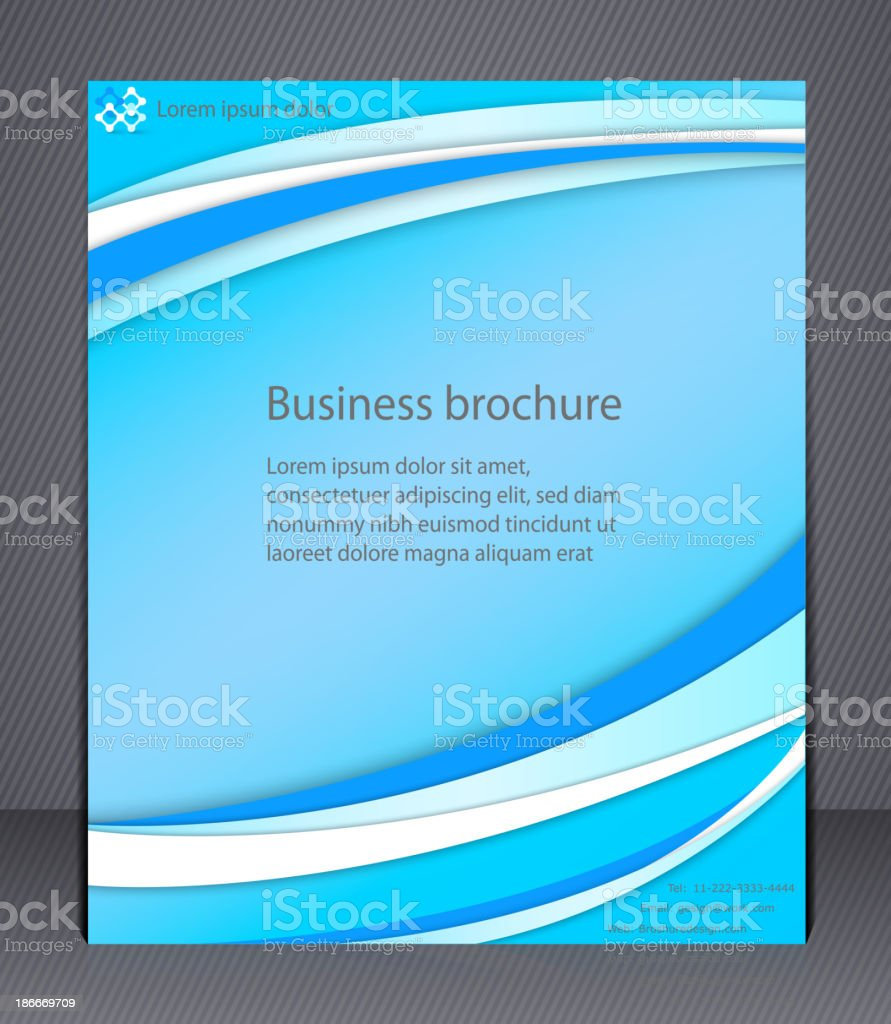 Business brochure. royalty-free stock vector art