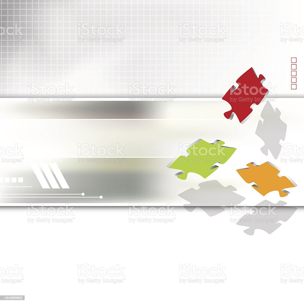 Business brochure with puzzle pieces royalty-free stock vector art