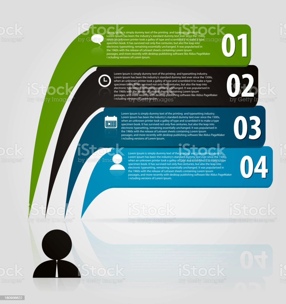 Business bubble speech template style royalty-free stock vector art