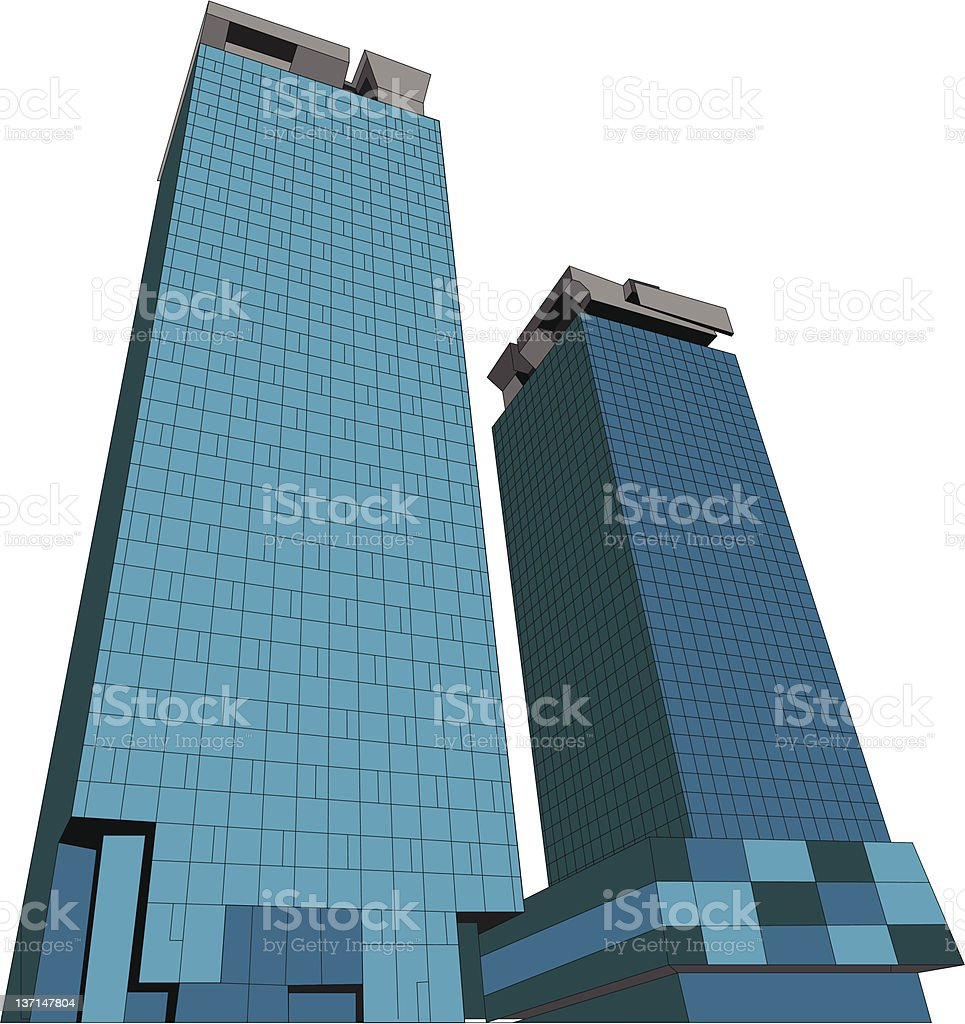 Business Buildings royalty-free stock vector art