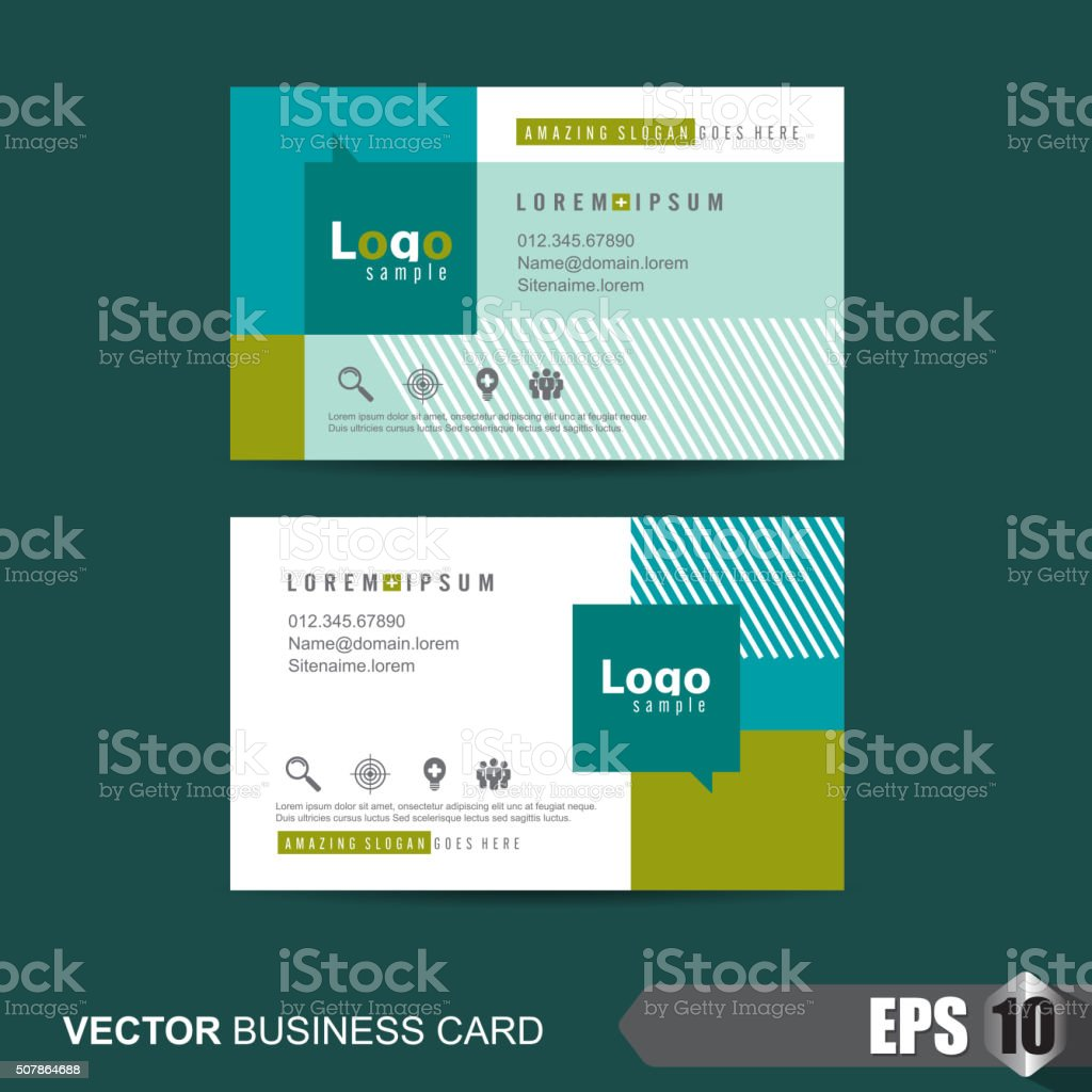 Business Card 329 vector art illustration