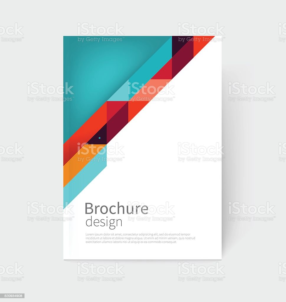 business card, Brochure, flyer, annual report cover template vector art illustration
