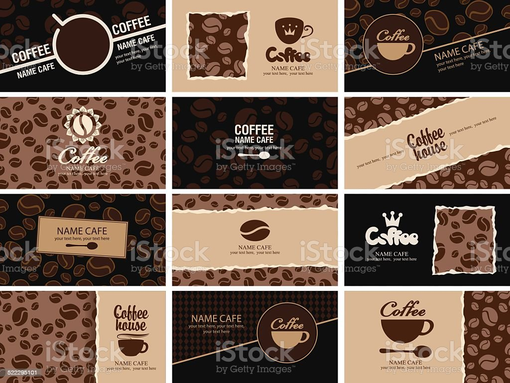 business card coffee vector art illustration
