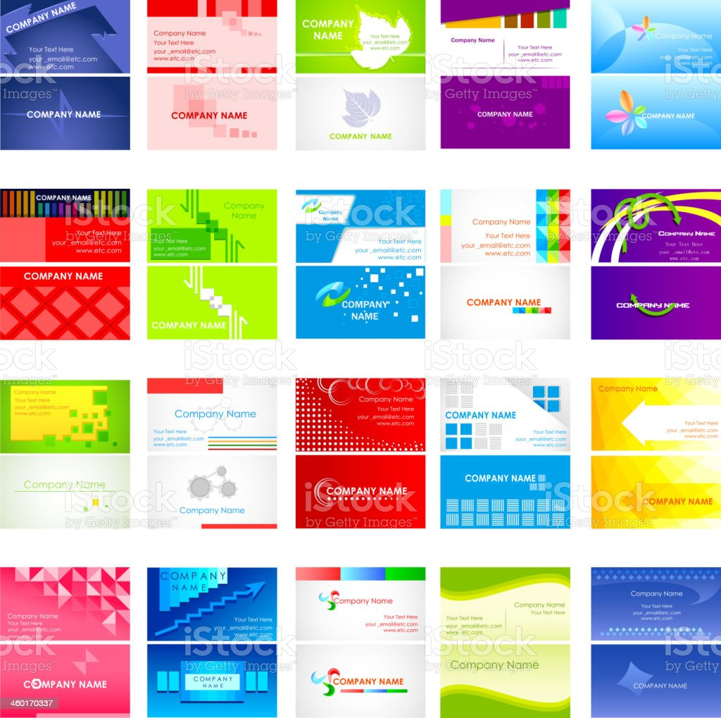 Business Card Collection vector art illustration