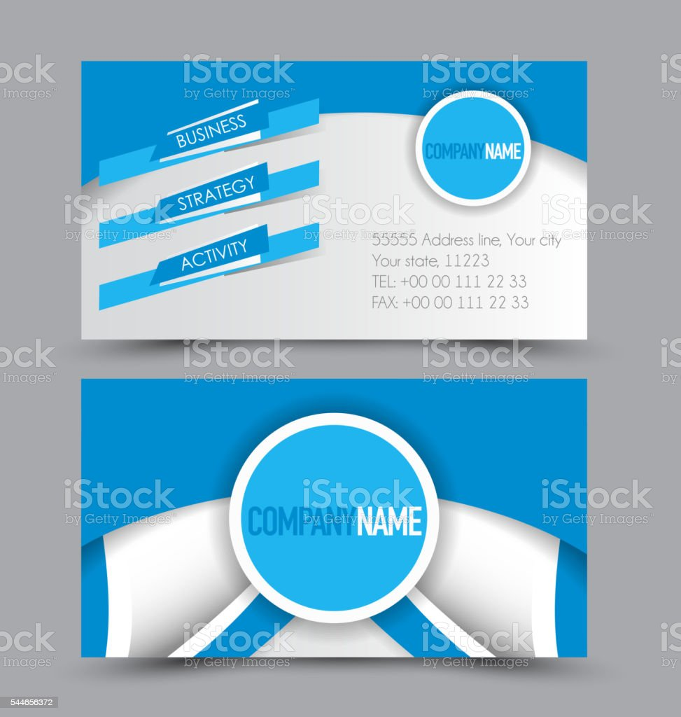 Business card design set template for company corporate style. vector art illustration