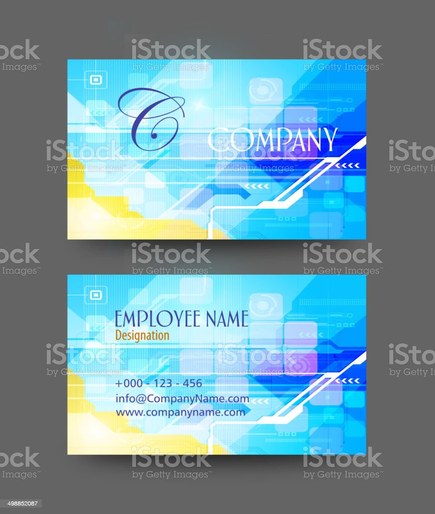 Business Card Design royalty-free stock vector art