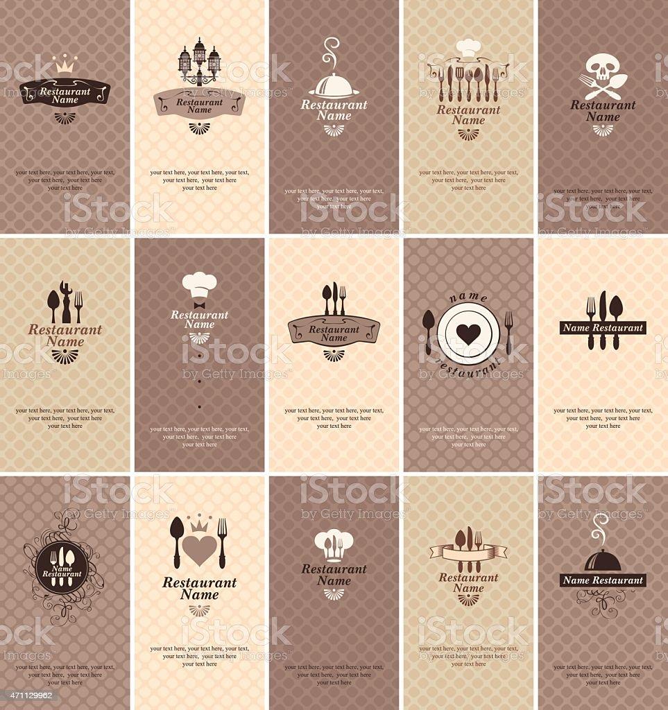Business card food vector art illustration