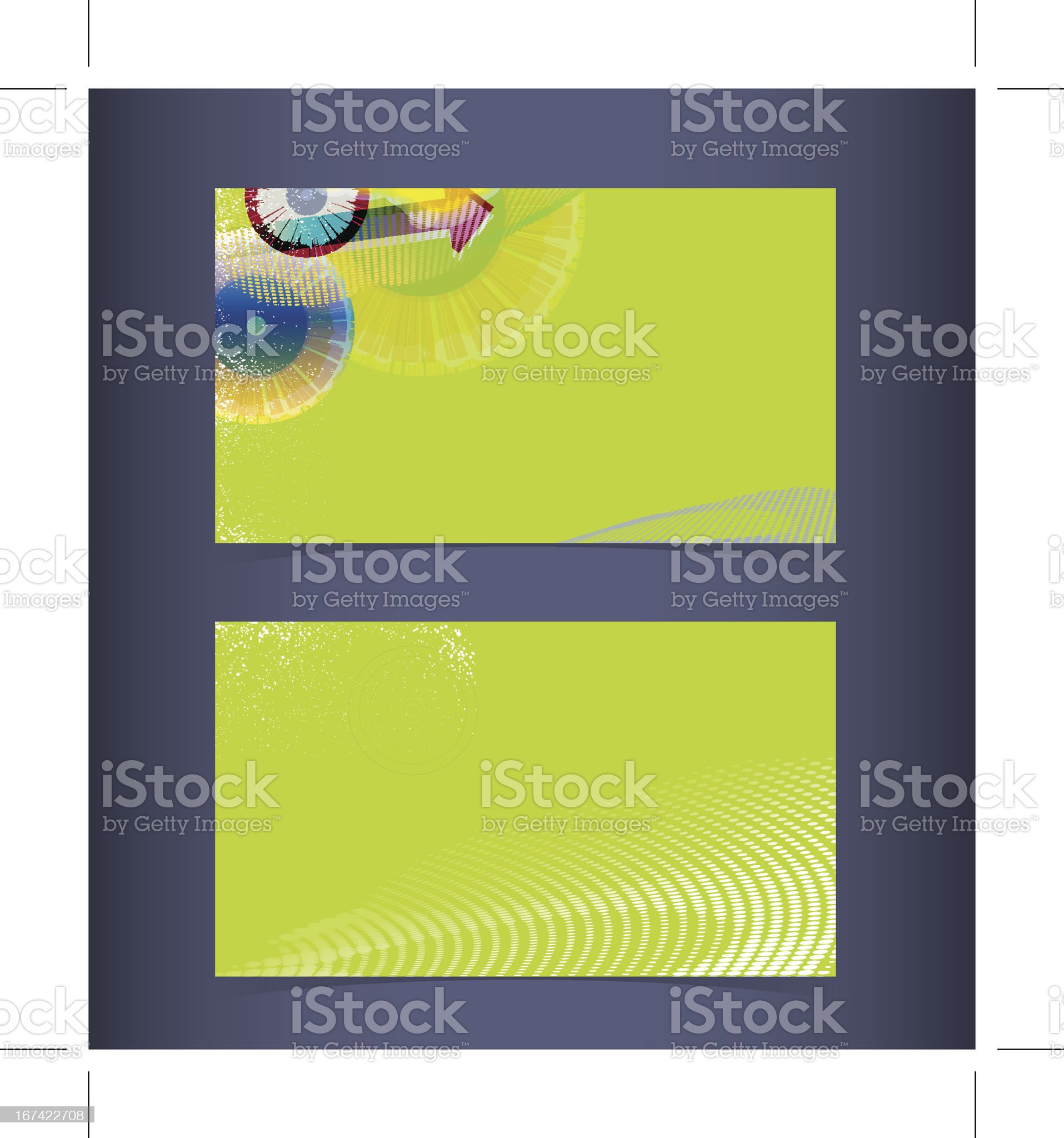 Business card layout. Editable design template royalty-free stock vector art