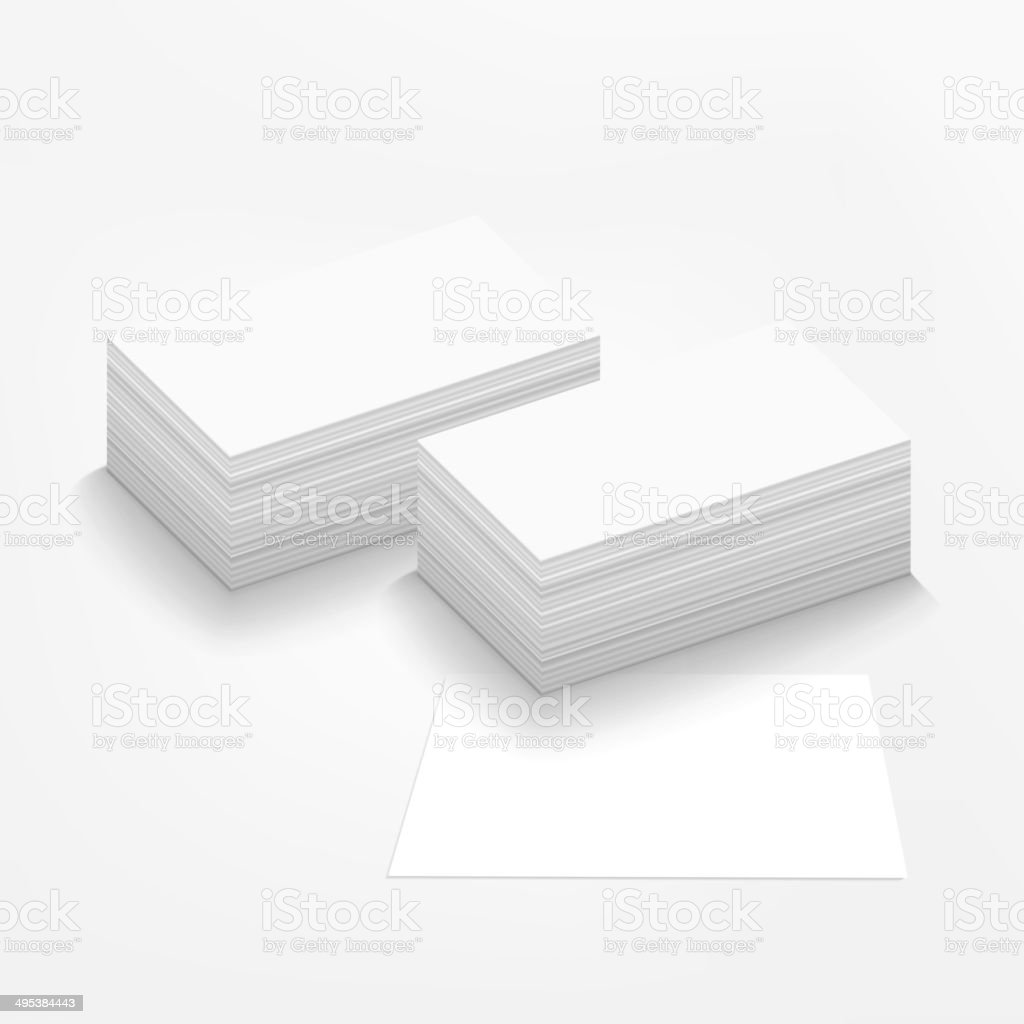 business card on white background vector art illustration