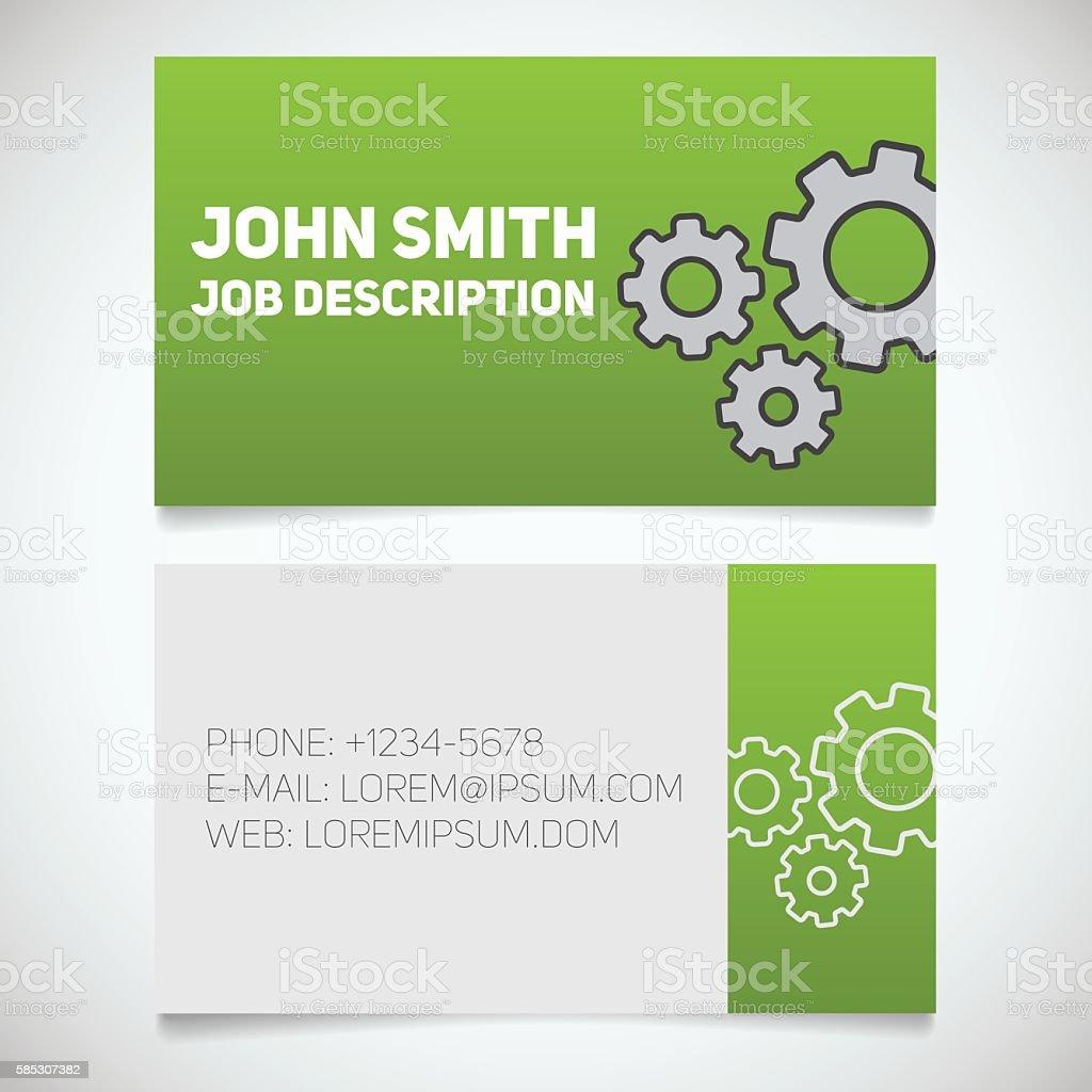 Business card print template vector art illustration