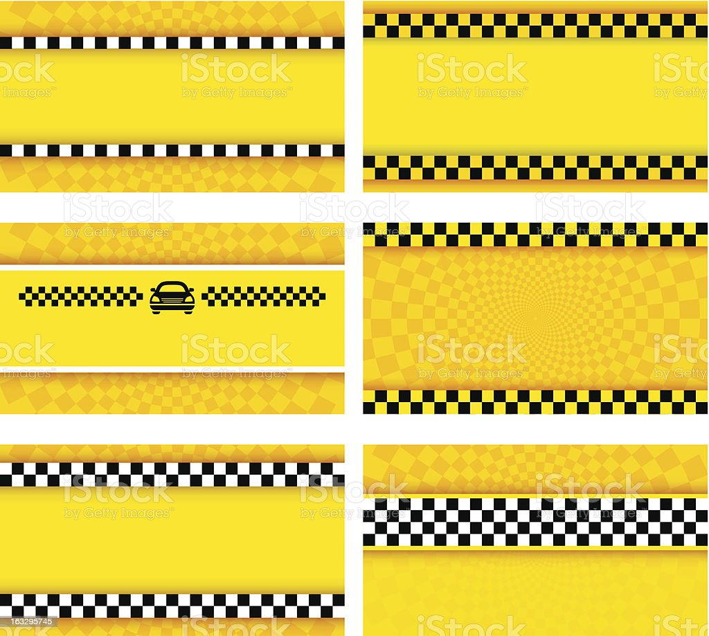 Business card taxi set vector art illustration