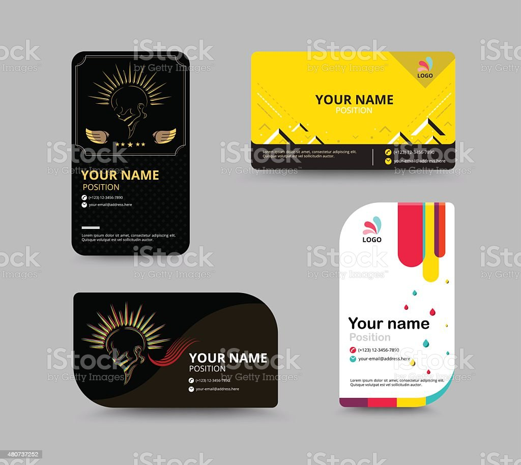 Business Card Template Business Card Layout Design stock vector ...