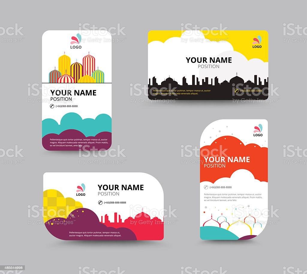 Business Card Template Business Card Layout Design Vector Illu stock ...