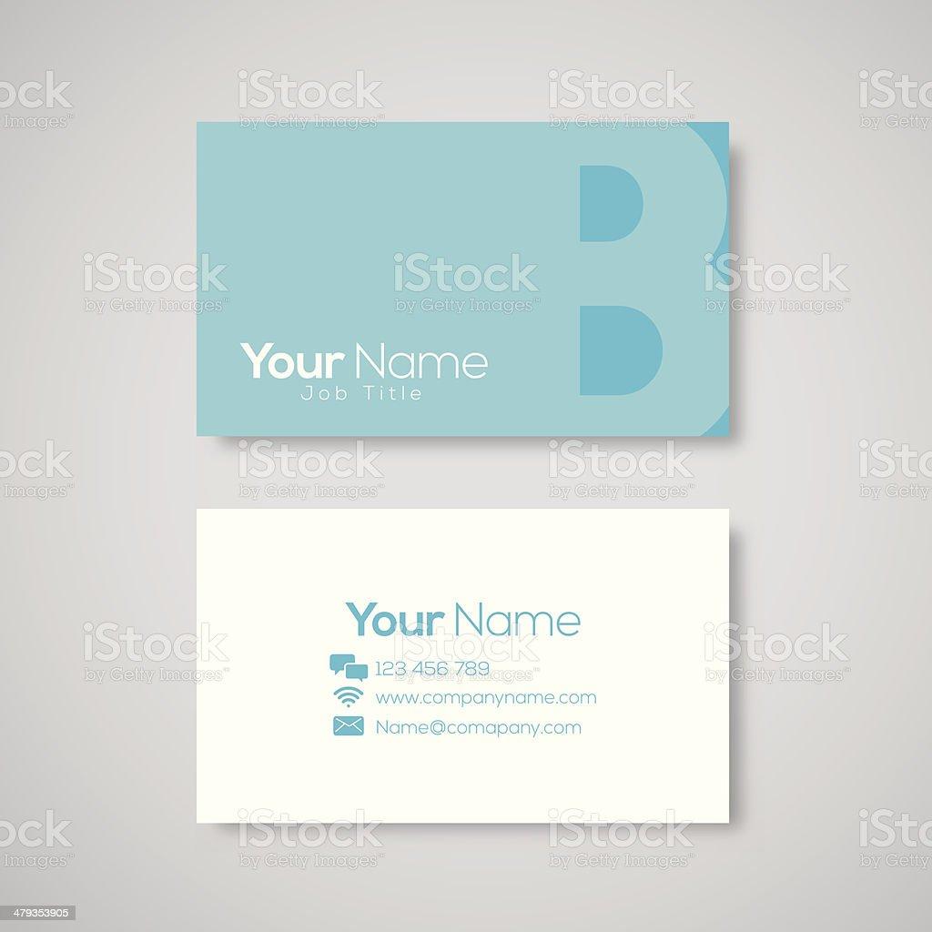 Business card template letter B vector art illustration