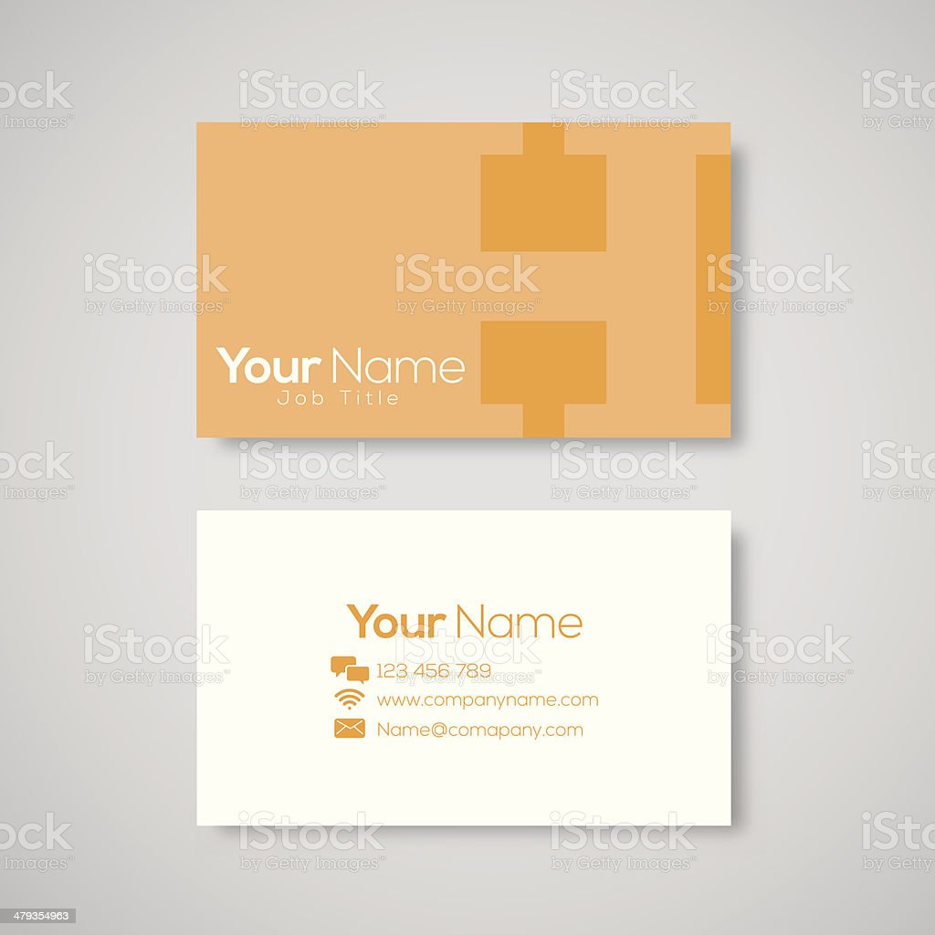 Business card template letter H royalty-free stock vector art