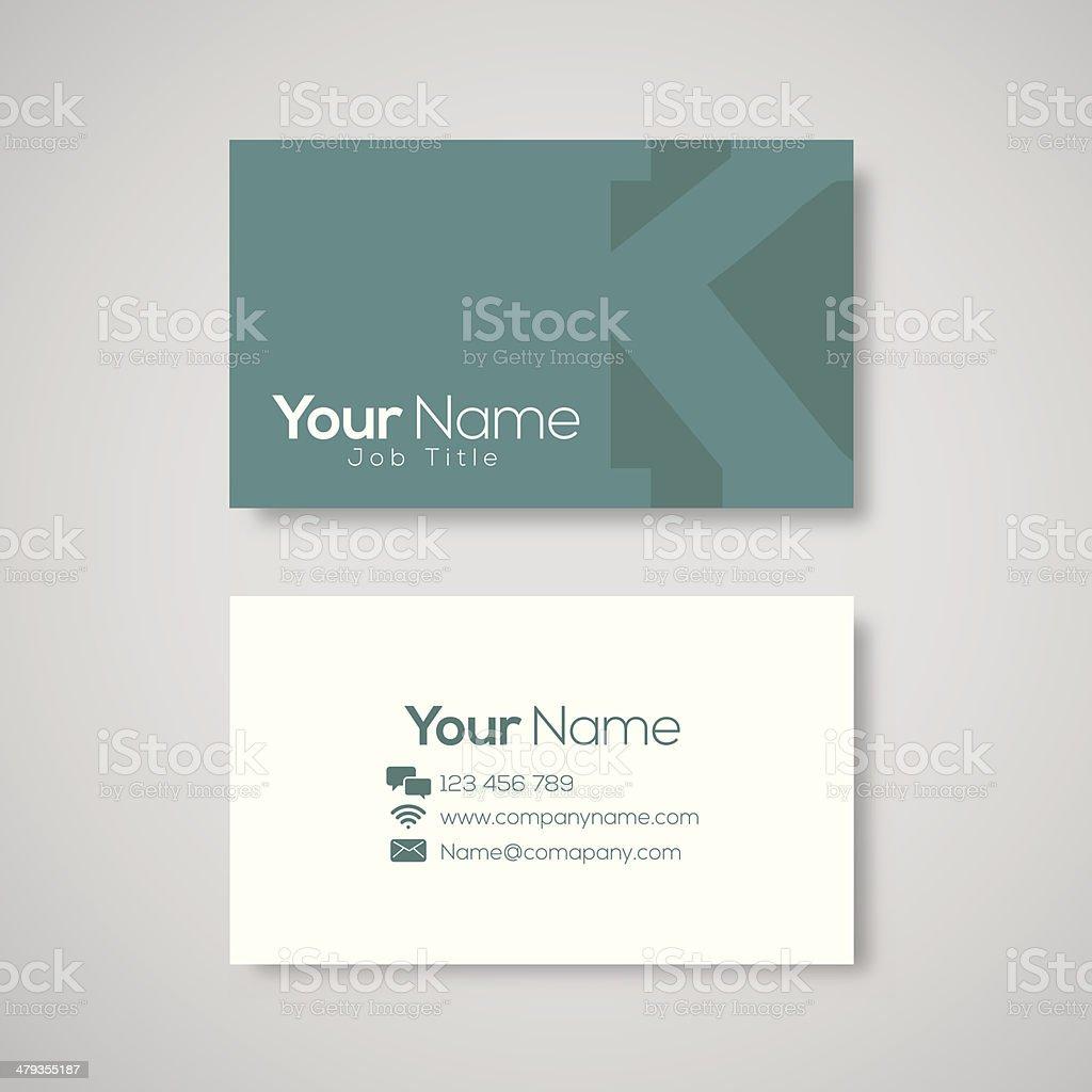 Business card template letter K vector art illustration