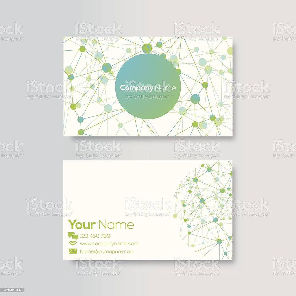 Business card template royalty-free stock vector art