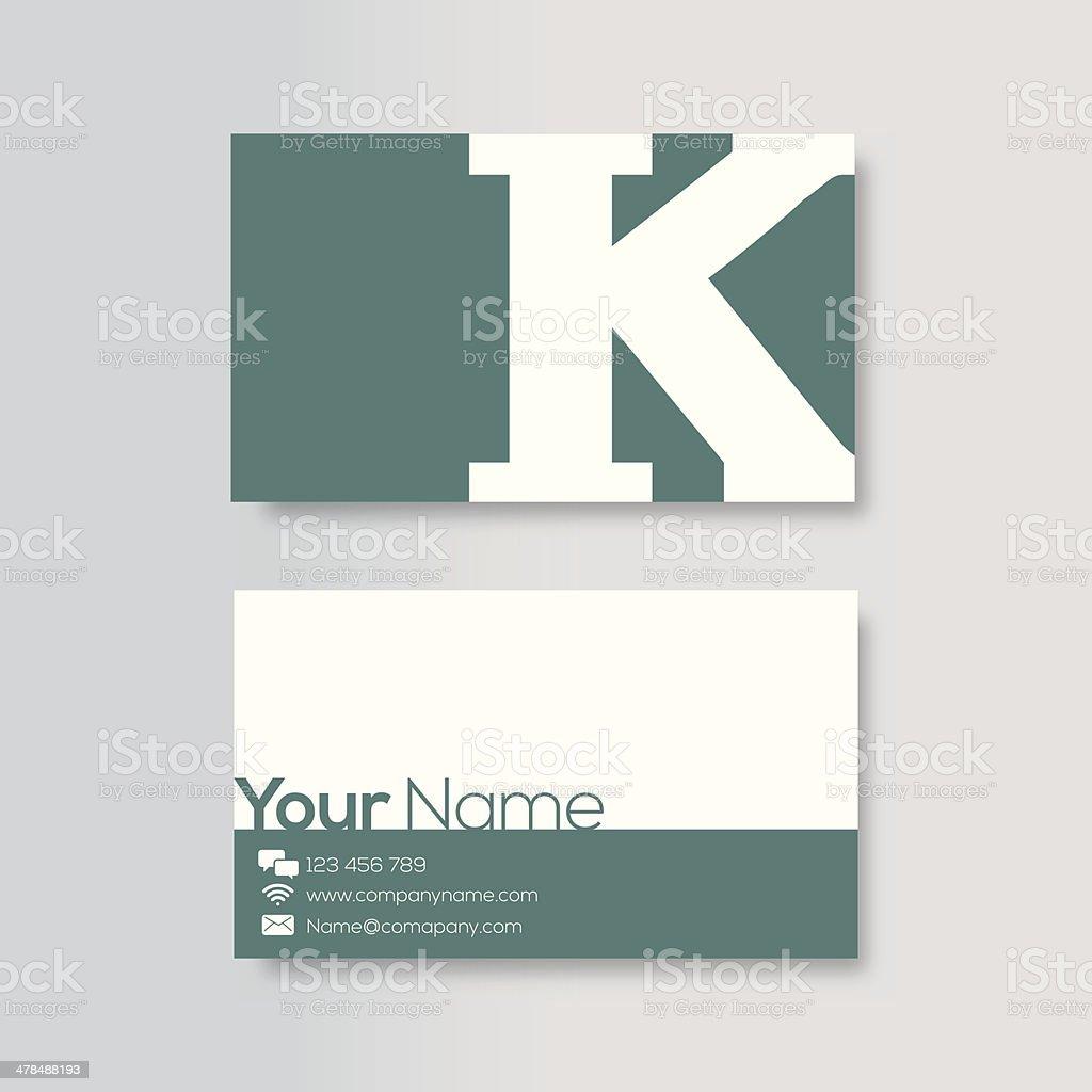 Business card template vector art illustration