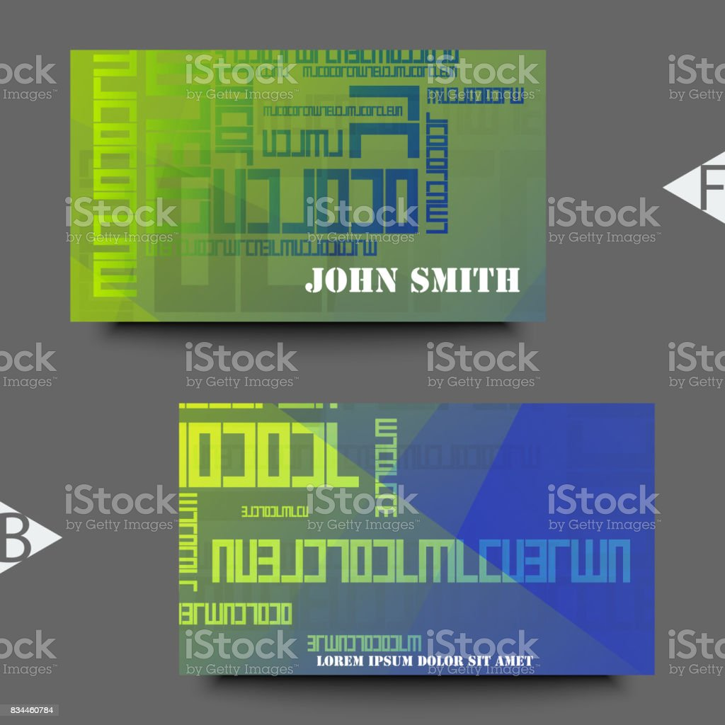 Business card template with abstract background. Eps10 Vector illustration vector art illustration